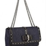 Christian Louboutin Sweer Charity Studded Leather and Denim Bag 2