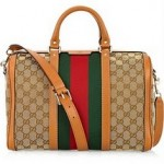 Gucci Vintage Web Medium Canvas Bag 1
