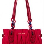 Miu Miu Matelassé Canvas and Leather Bag 3