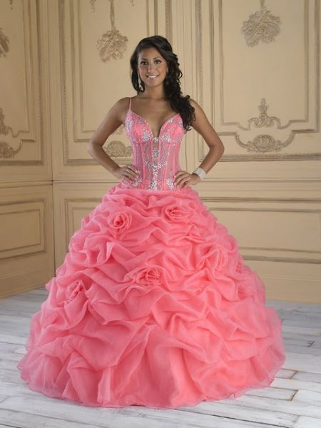 Neon peach prom dresses pictures