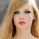 hot pink makeup for blondes 1980s makeup looks and trend ideas 150x150 Maquiagem de Festa para Loiras