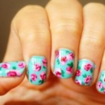 unhas-decoradas-estampa-floral