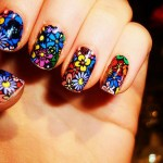 unhas decoradas com flores 150x150 Unhas decoradas com Estampas Florais