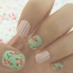 unhas decoradas estampas florais 14 150x150 Unhas decoradas com Estampas Florais