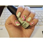 unhas decoradas estampas florais 17 150x150 Unhas decoradas com Estampas Florais