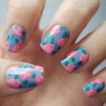 unhas estampa floral1 150x150 Unhas decoradas com Estampas Florais