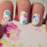 unhas florais decoradas 150x150 Unhas decoradas com Estampas Florais