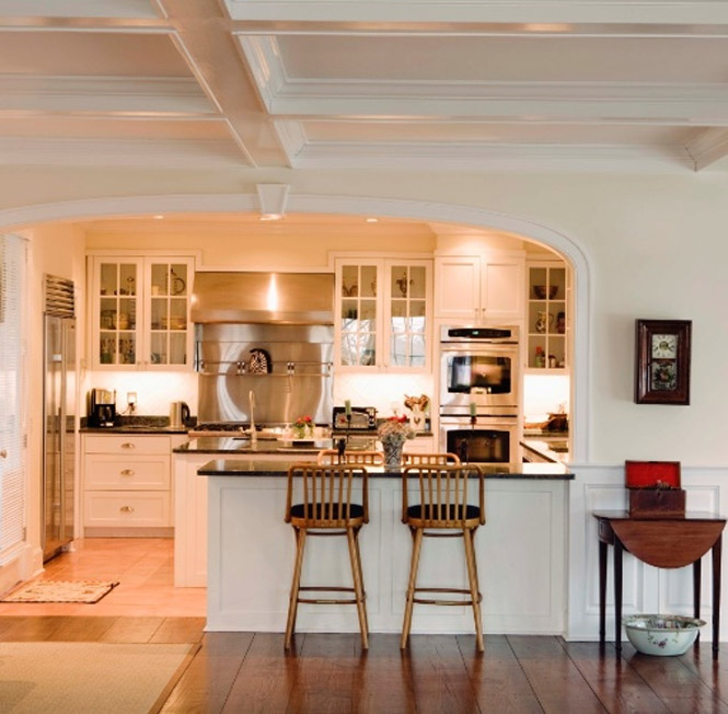 Cozinha americana for Half wall kitchen ideas