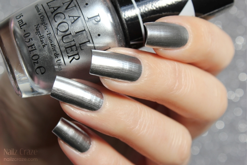 OPI Push And Shove Silver Chrome Mirror Gwen Stefani Collection 2014 4