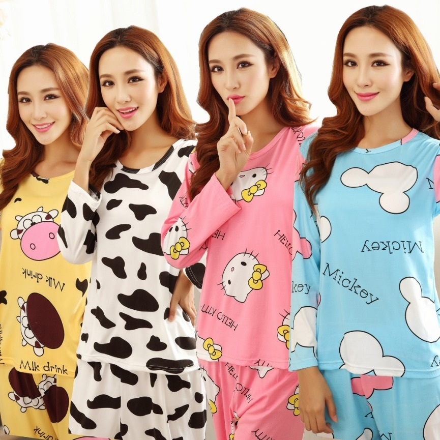 2016-New-Pijama-Feminino-Women-Sleepwear-100-Cotton-Pajamas-Sets-Fashion-Nightwear-Autumn-Winter-Sleepwear-Home