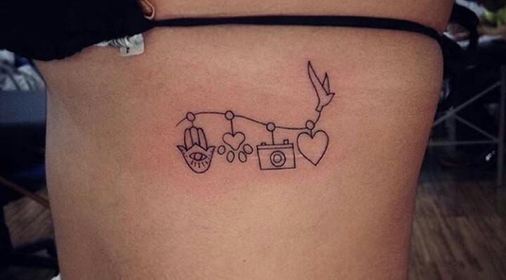 Tatuagens femininas na costela paixões da vida