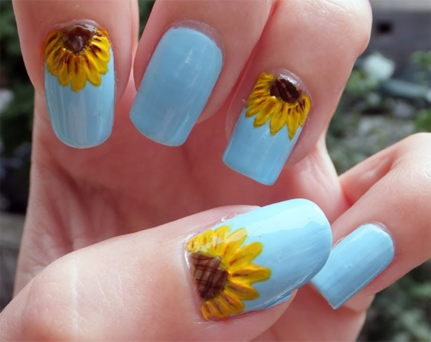 awesome-sunflower-nail-art-designs-2017
