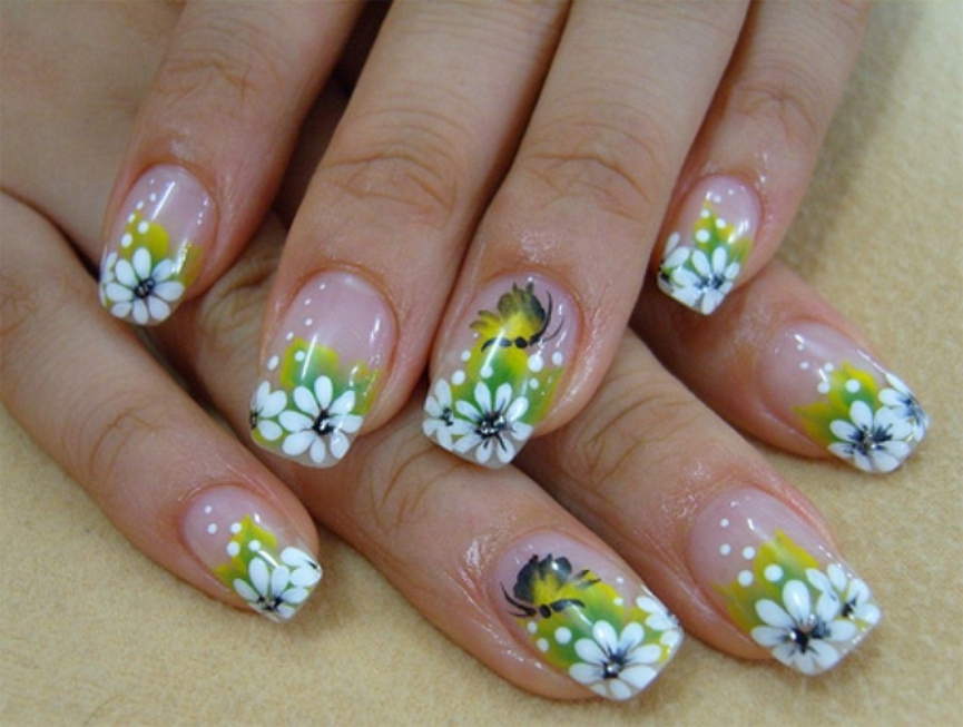 floral-beach-nail-art-designs-for-summer-2017