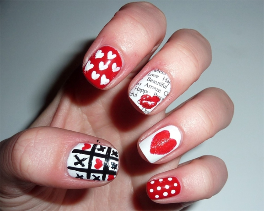 latest-funky-nail-art-for-valentines-day-2017