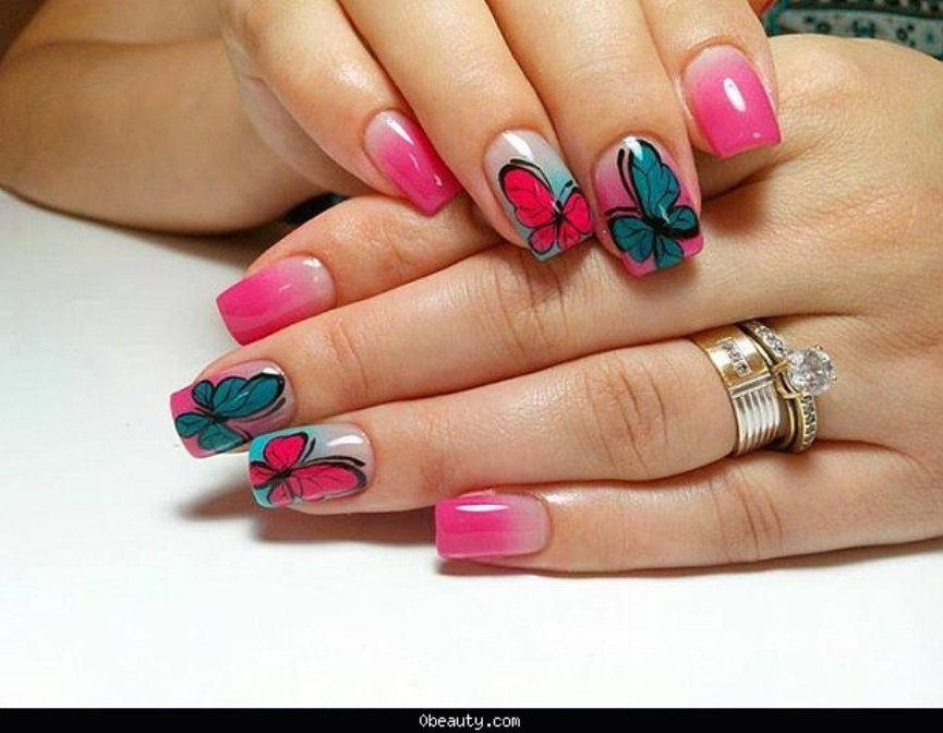 latest-gorgeous-butterfly-nailart-collection-for-eid-2016-2017