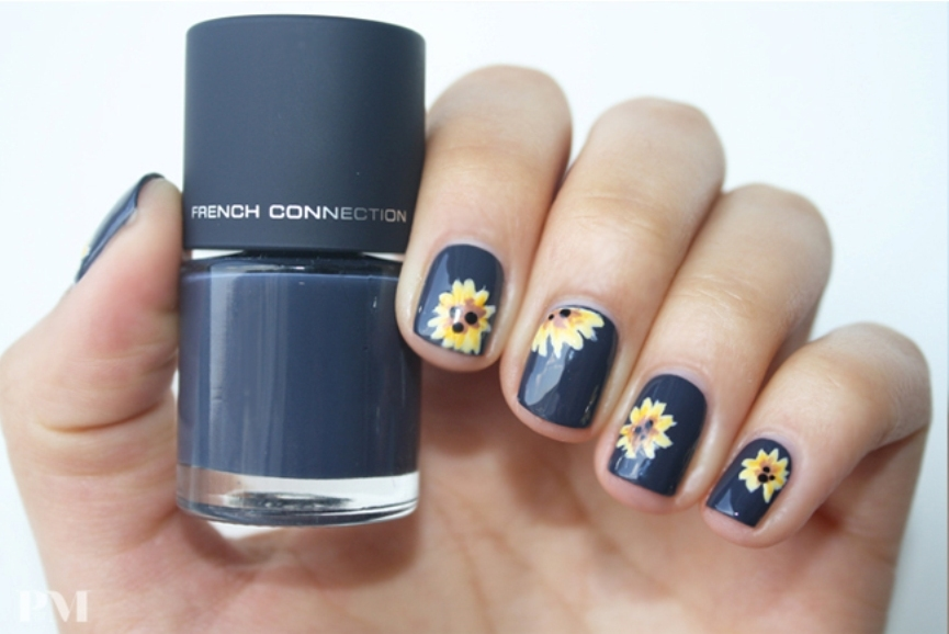 outstanding-sunflower-nail-designs-for-sunny-days