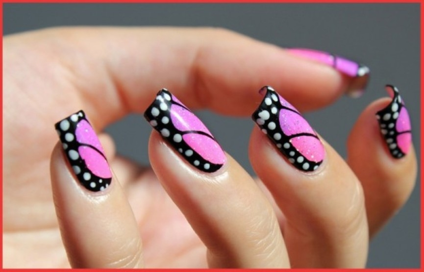 pink-butterfly-nail-art-designs-2016-600x384