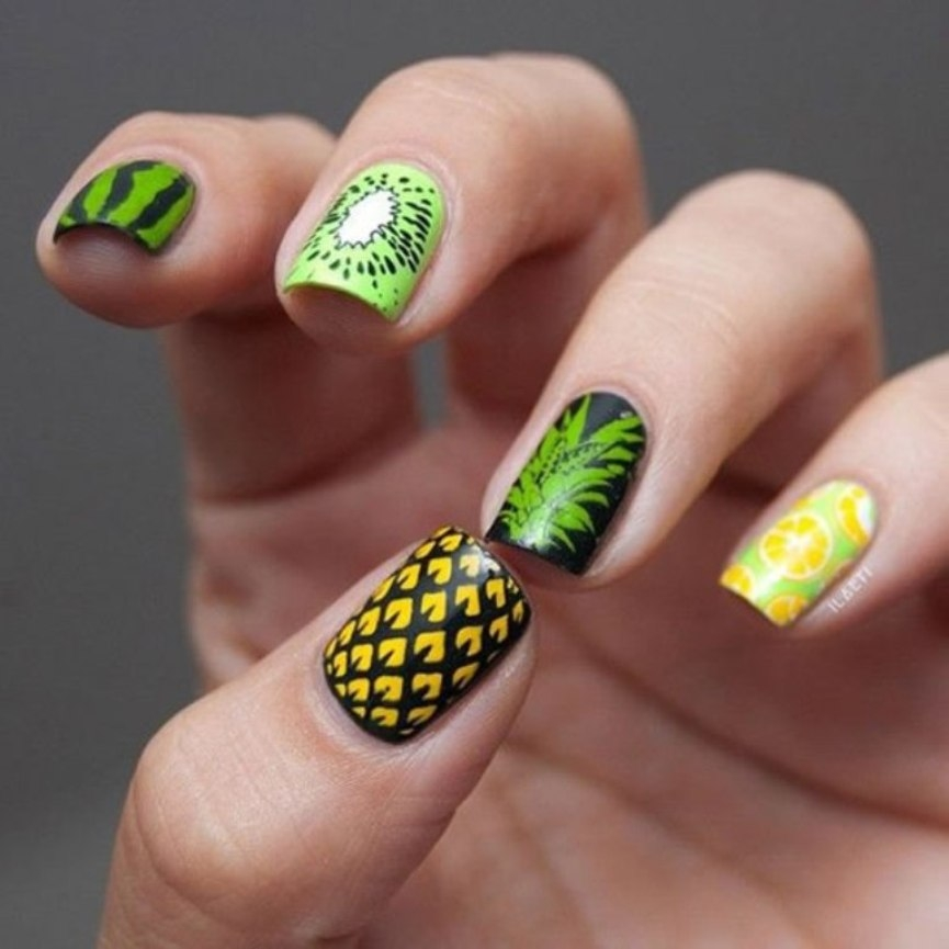 tropical-fruit-nail-for-summer